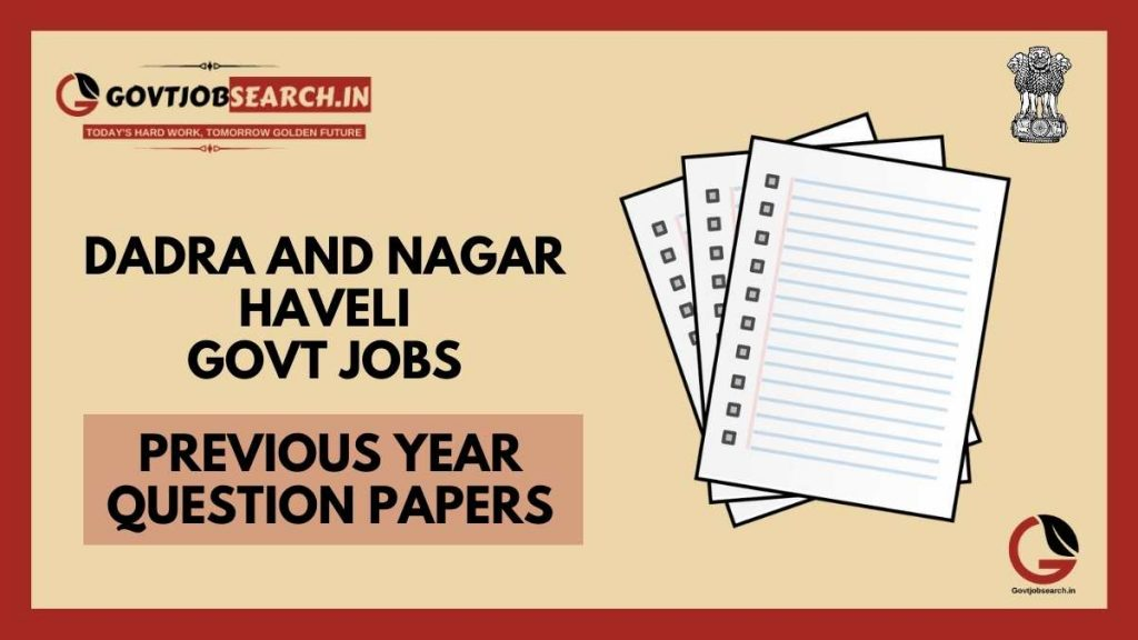 dadra-and-nagar-haveli-government-jobs-previous-years-papers