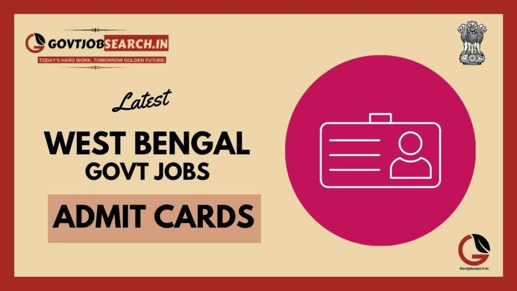 west-bengal-government-jobs-admit-cards