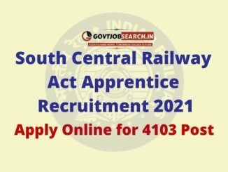 South Central Railway Act Apprentice